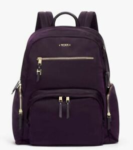 """Tumi Voyageur Carson 16.75"""" Laptop Compartment Backpack - Blackberry Purple ~NWT"""