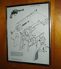 Vintage 1950s Military & Police 38 Smith & Wesson Exploded View Schematic Print