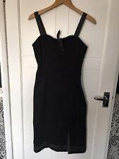 Black Living Dead Souls Dress Size M Wiggle Dress Goth Rock Emo Punk Retro BNWT