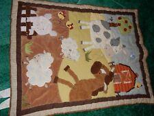 Kidsline Farm Animals Cow Horse Pig Sheep Tree Barn Baby Crib Comforter Blanket