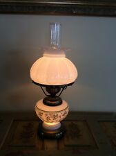 Vtg Gone With The Wind Flowered Hurricane Electric Lamp