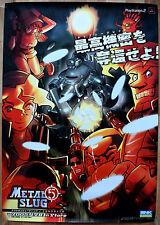 Metal Slug 5 poco común Sony PS2 51.5 cm X 73 Cm Cartel Promo Japonés