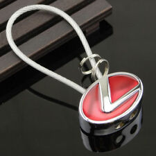 LEXUS RED Key Ring Key Chain Wire Steel Car Key Holder Gift