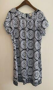 HATLEY UK Black White Dress - Size XL