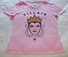 Disney Evil Queen Ladies Pink Printed Short Sleeve T Shirt Size XL New