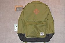"BNWT HERSCHEL HERITAGE 2-TONE BACKPACK ARMY BLACK 15"" 10007-00238-OS back pack"