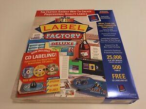 Art Explosion Program Label Factory Deluxe Unopen Box Avery 2000 Windows Deluxe