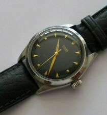 "A STUNNING GENTS VINTAGE 1953 ROLEX OYSTER ""WAFFLE"" BLACK ""BULLSEYE"" DIAL STEEL"
