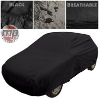 Black Indoor & Outdoor Breathable Sun Ice Full Car Cover for Ford Fiesta 2008+