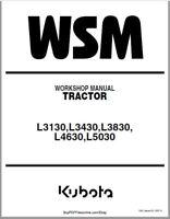Kubota L3130, L3430, L3830, L4630, L5030 Tractor Repair Manual Free Shipping