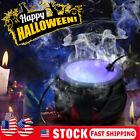 Halloween Witch Pot Smoke Machine Fogger Misting Cauldron Mist Maker Party Prop