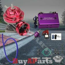 Red Turbo Type-RS BOV Blow Off Valve Purple Dual Stage 30PSI Boost Controller