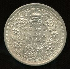 1944 India One Rupee Silver Coin