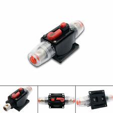 12V 20-80AMP DC In-Line Quick Circuit Audio Breaker Fuse Holder Inline Circuit