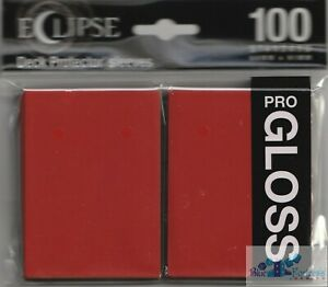 100 PRO-GLOSS ECLIPSE Apple Red DECK PROTECTOR CARD SLEEVES FOR MTG ULTRA PRO