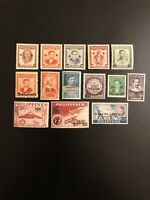 PHILIPPINES STAMPS ALL OVERPRINT OVPT & SURCHARGED - LOT Of 14 - MINT UNUSED MLH