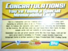 TOPPS premier gold 02 memorabillia shirt redemption card never redeemed