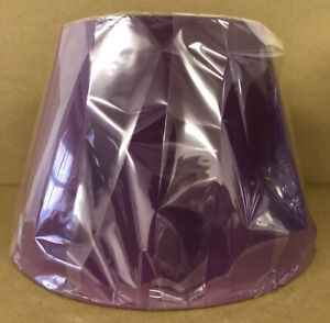 """12"""" Tapered Drum Purple Lampshade Table Lamp Ceiling Light Shade New"""