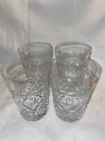 Set of 4 Cut Glass Whiskey Tumblers #54 - Beautiful Condition