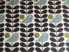 Orla Kiely Early Bird Granite Stem FQ 50cm Square Fabric Lightweight Cotton New