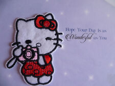 "HELLO KITTY IRON ON/SAW ON APPLIQUE 3""x2"" FOR CHILDRENS CLOTH'S"