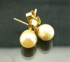Vintage Pearl Earrings - 9ct Solid Gold - Perfect