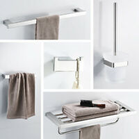 Square Bathroom Accessories Wall Mounted Towel Ring Holder Towel Rack Bathroom