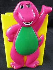 "Vintage 1990's Lyons Barney Purple Dinosaur PLASTIC JUICE BOX CASE 4""x 2 7/8"""