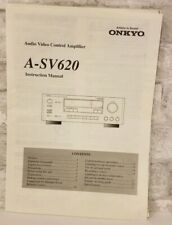 Onkyo Original A-SV620 Audio Video Amplifier Operating Manual Instruction Owners