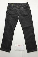 Lee Leola schwarzer Samt verkürzt Jeans gebraucht Cod.D885 Größe 44 w30 L33 Frau