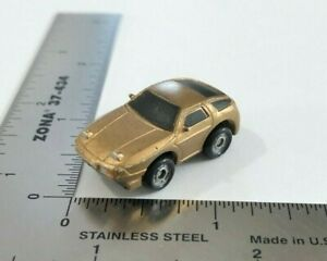 Micro Machines 1987 Galoob Porsche 928 Gold Sports Car w/ Black Windows