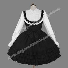 Reenactment Gothic Lolita Punk Classic Cotton Victorian Dress Theatre Clothing