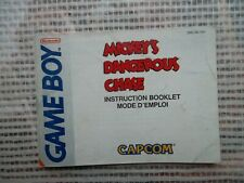 Notice Game Boy / Mickey's Dangerous Chase fah manuel Booklet *