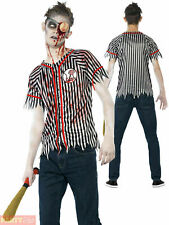 Baseball Player Zombie Fancy Dress Costume Halloween Scary Horror - Adult Small
