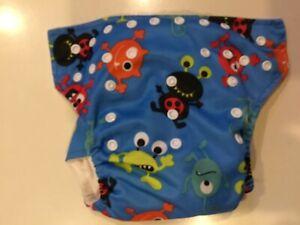 Alien print kawaii baby pocket diaper plus 2 inserts