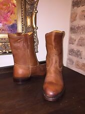 FRYE WOMENS JET BOOT ROPER TAN LEATHER WOMENS 6.5 NEW SHORT BOOTIES