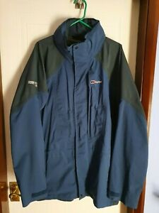 Berghaus Mens GoreTex XCR fully waterproof jacket Size Large Airforce blue/grey
