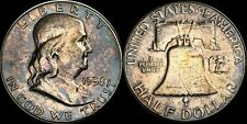 BEAUTIFUL & TONED 1958 FRANKLIN HALF SILVER DOLLAR BU EXCELLENT COIN!