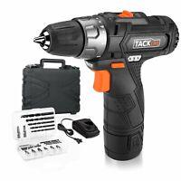 Tacklife PCD02B 12V Lithium-Ion Cordless Drill/Driver 3/8-Inch Chuck Max Torque