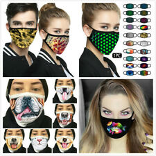 Funny Face Mask 3D Print Reusable Mask Washable Mouth Cover Mask Fashion