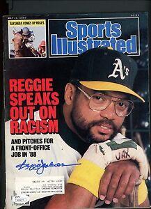 Reggie Jackson Signed 1987 Sports Illustrated Full Magazine JSA COA AUTO