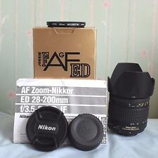 Nikon Nikkor 28-200mm f/3.5-5.6 AF-G lens +box, hood, manual, 2 caps, filter VGC