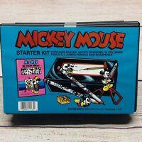 Vintage 90s Disney Mickey Mouse Empire Berol Pencil Box School Supply Kit Sealed