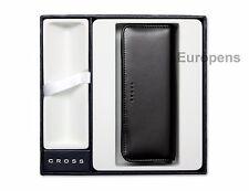 Cross Triple Pen Case Black Zipped - Supplied in Gift Box - Empty space for pen*