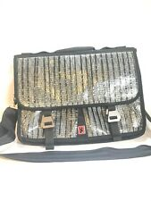 "Chrome Industries Crossbody Messenger Bag Black Gray 16.5""x 12""x 2.5"" Made USA"