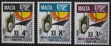 Malta international trade fair stamps, Malta, 1968, SG ref: 402-404 3 stamps MNH