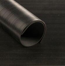 Feinriefenmatte 3mm Schwarz Gummimatte Anti Rutsch Matte Bodenmatte 0,5 - 5,0m
