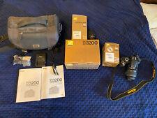Nikon D3200 24.2 Mp Digital Slr Camera W/ 18-55mm, 55-200mm, Bag & Accessories