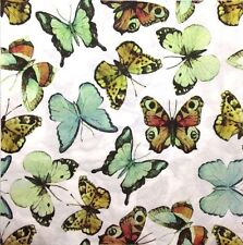 3x Single Paper Napkins For Decoupage Craft Tissue Natural Look Butterflies M066