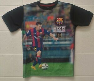 Lionel Messi FC Barcelona 3D Print T Shirt Official Merch Youths Large Soccer